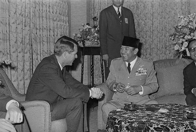 Robert F. Kennedy Talking With Achmed Sukarno