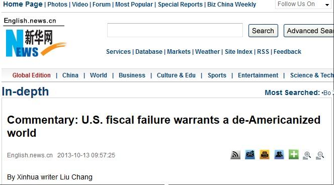 xinhua deamericanize fiscal