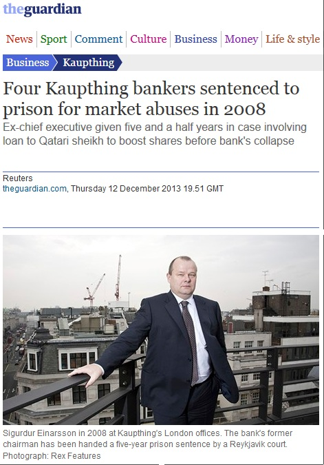 4 kaupting bankers jailed