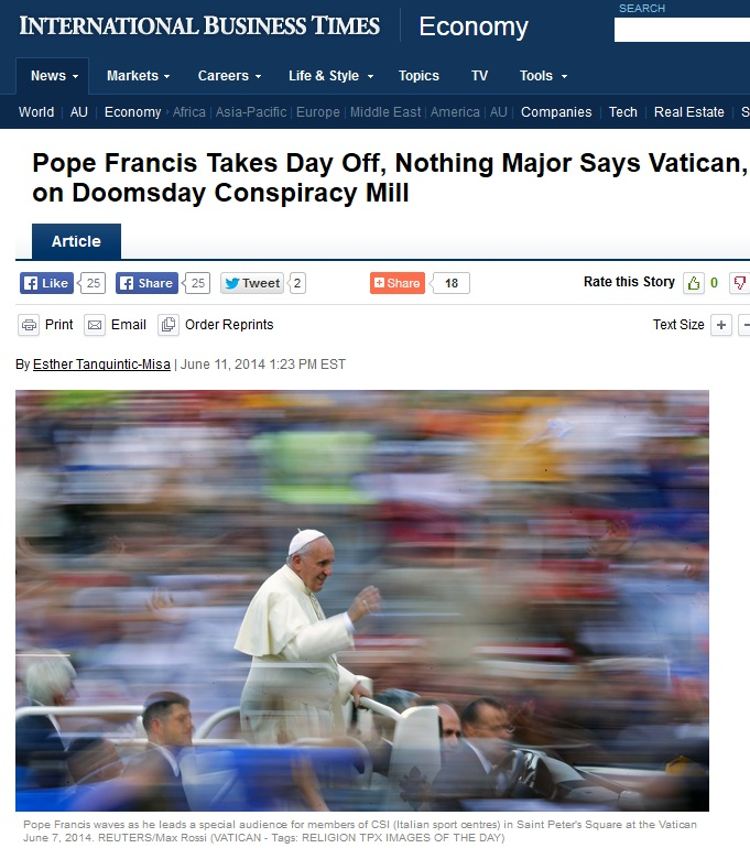 pope takes leave