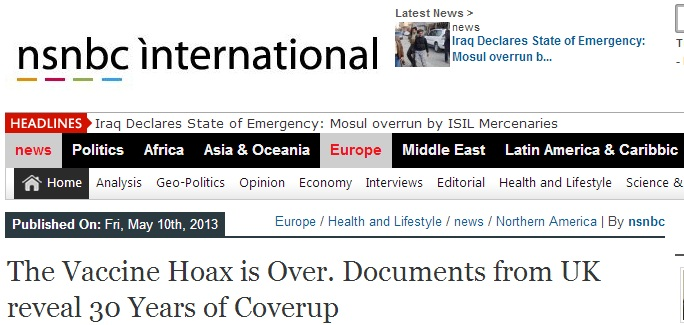 vaccine hoax is over