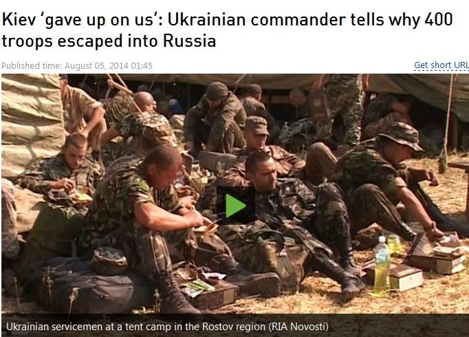 400 ukrainian soldiers surrender