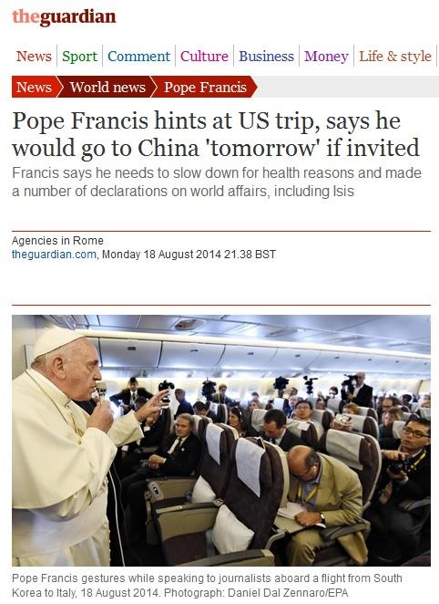 pope to china