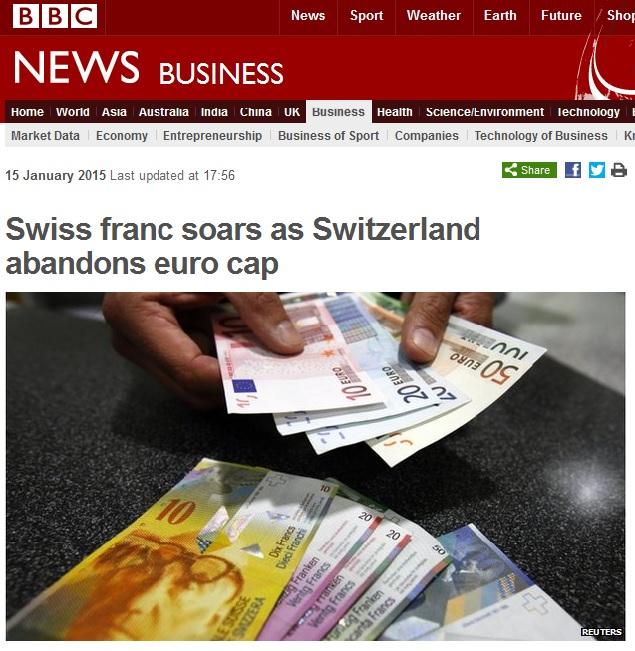 swiss francs soars