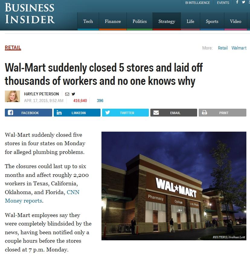 walmart closures