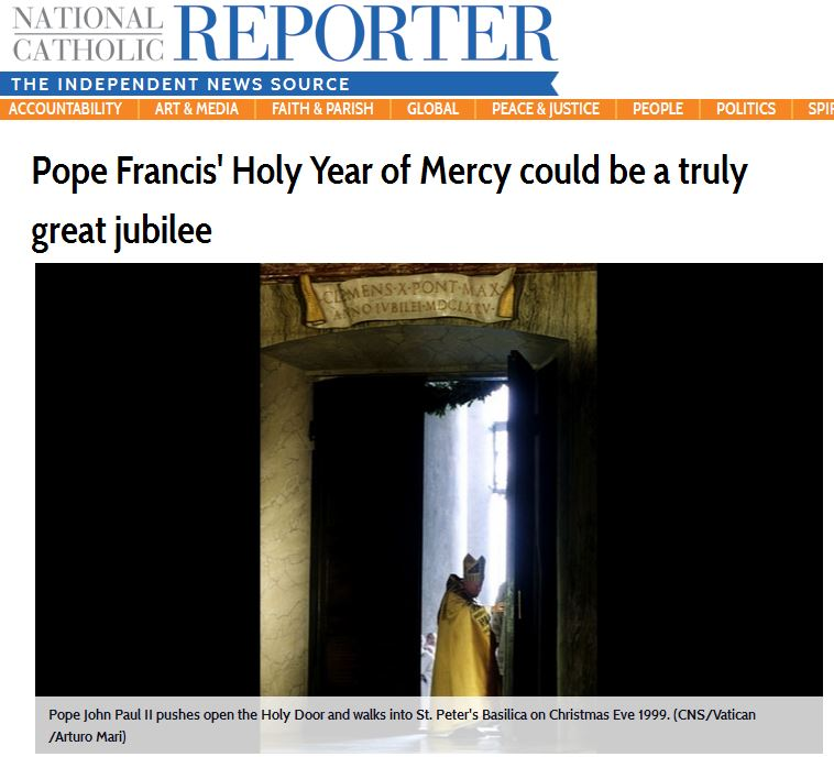 pope francis announces holy year of mercy