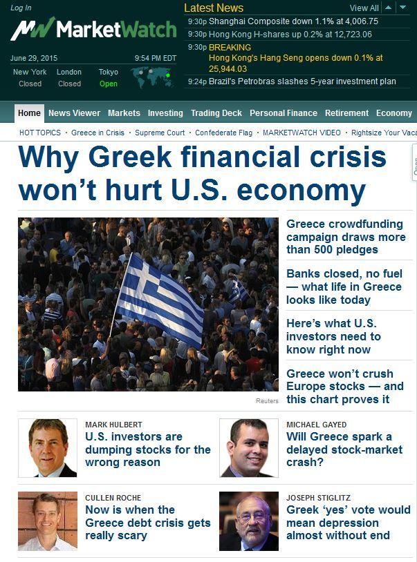 greek crisis wont hurt us