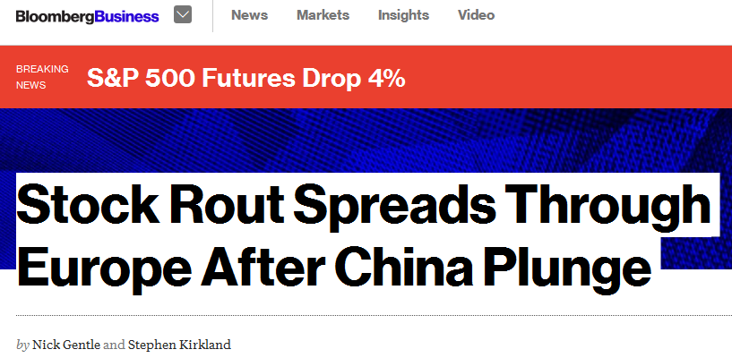 china plunge rout europe