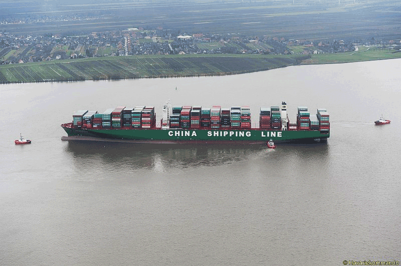 CSCL-Indian-Ocean-aground
