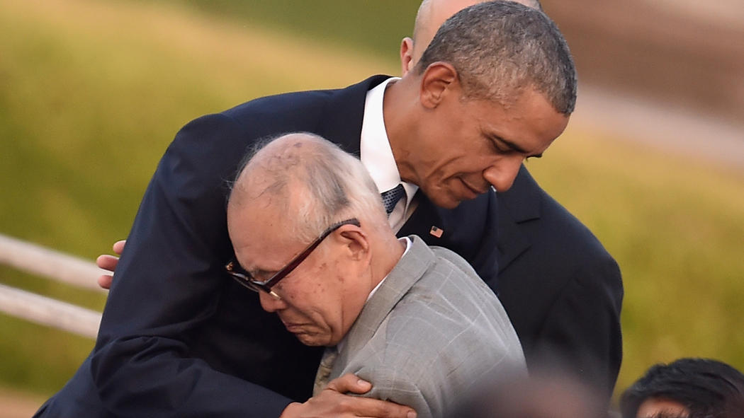 hugs from Obama and tears from A-bomb survivors