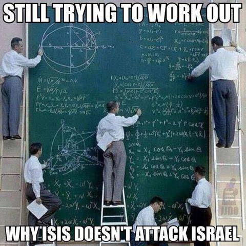 why isis not attack israel