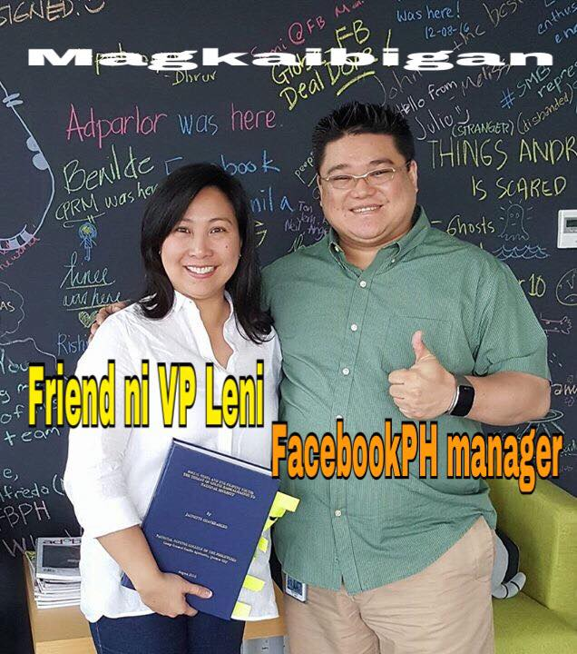Facebook Philippines Head Digs Dimagiba is a close friend of one Jan Chavez-Arceo