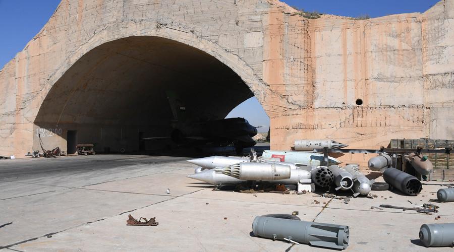 The Shayrat airbase was not abandoned, but reinforced instead.