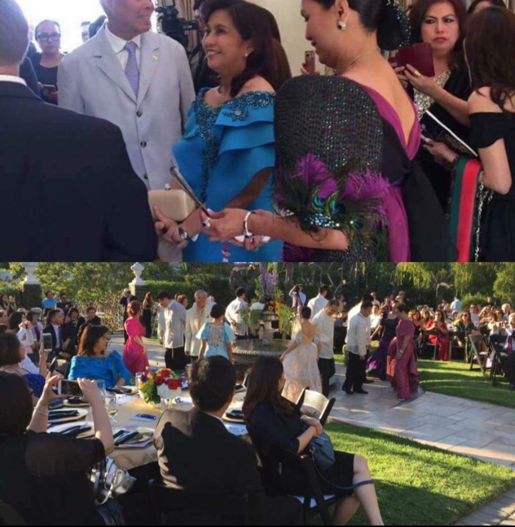 Leni Robredo was attending a fund raising party in LA, California, yesterday. Ticket costs #300 each.