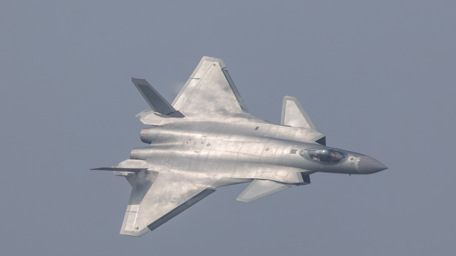 China unveils its J-20 stealth fighter during an air show in Zhuhai, Guangdong Province, China, November 1, 2016. Stringer/Third party / Reuters