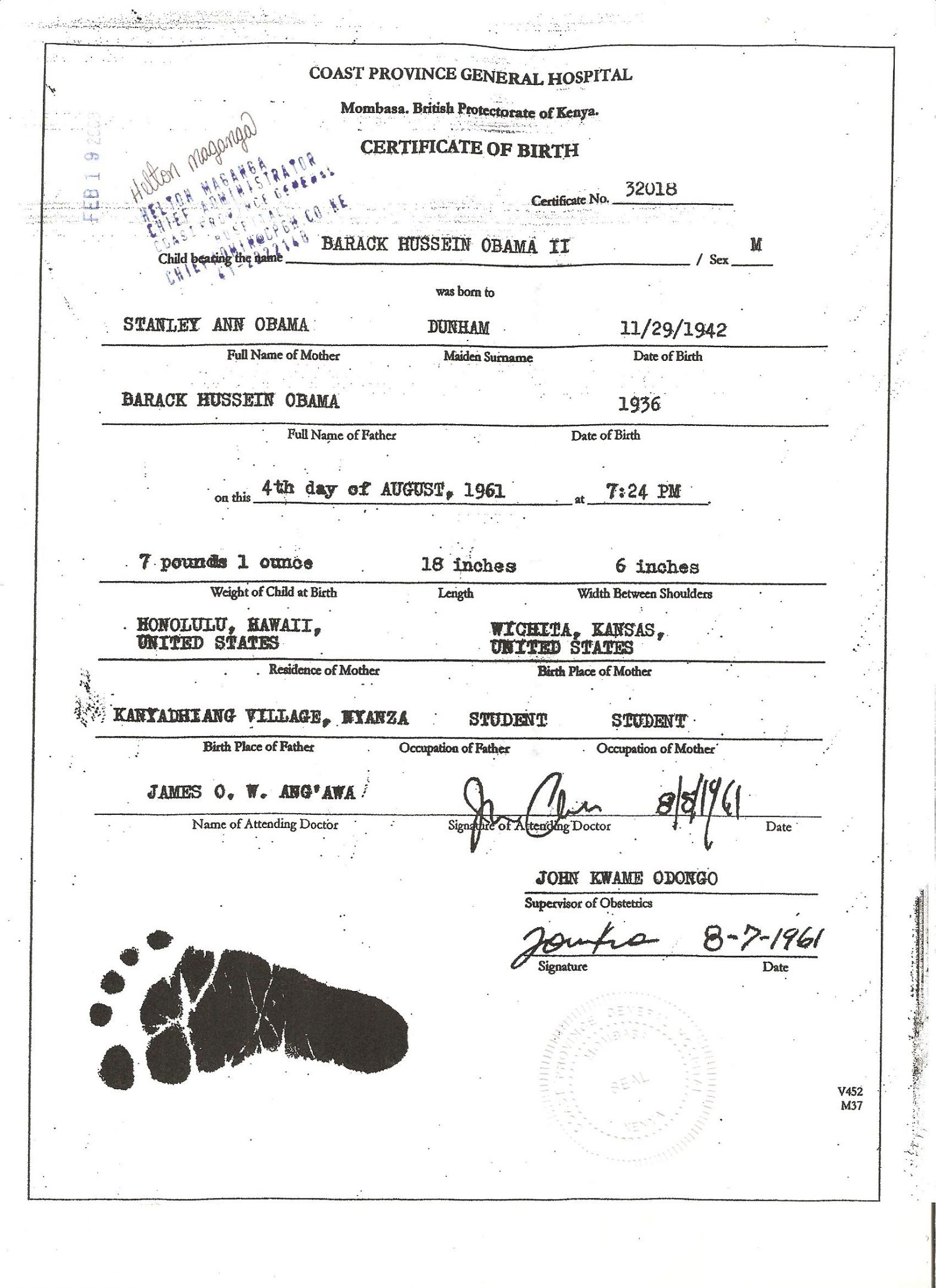 The Obama Birth Certificate
