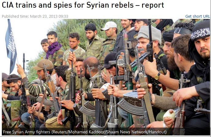 cia trains syrian rebels