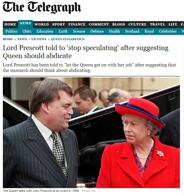 queen urged to abdicate by presscot