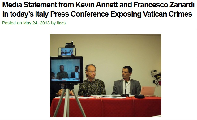 kevin annett press conference italy