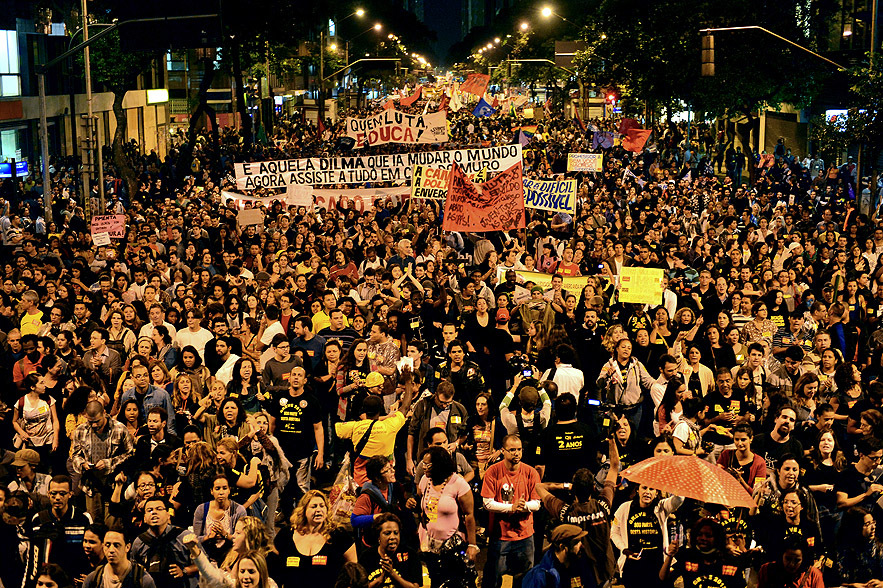 BRAZIL-EDUCATION-TEACHERS-PROTEST