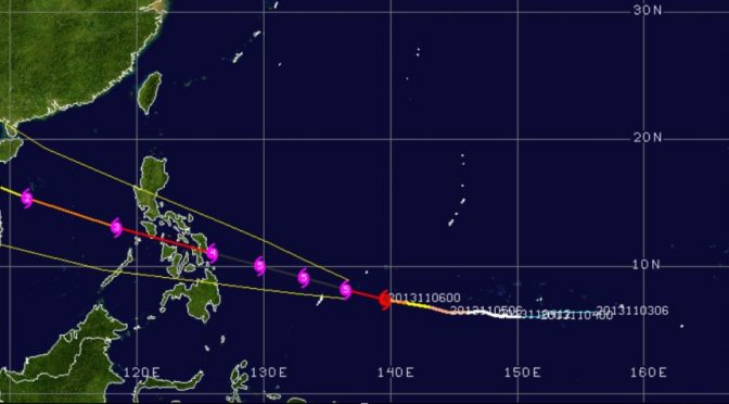 CAT 5 TYPHOON EN ROUTE TO PHILIPPINES