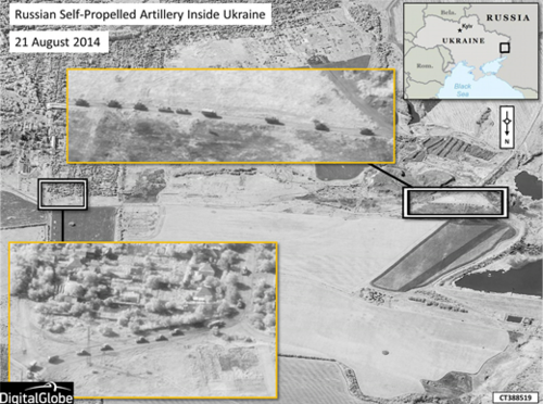 "NATO SAT IMAGES ""EXPOSES RUSSIAN COMBAT TROOPS INSIDE UKRAINE"""