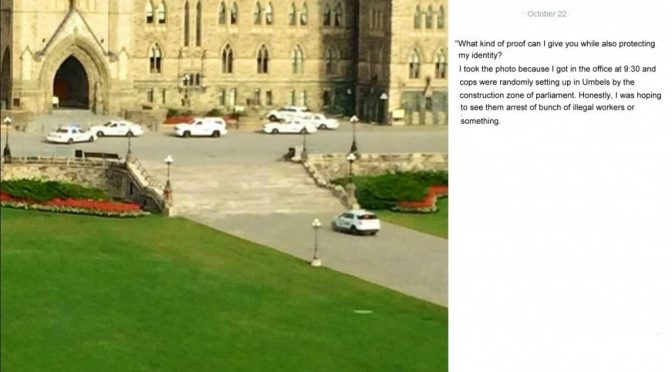 Photos Taken 15 mins. Prior to Ottawa Shooting