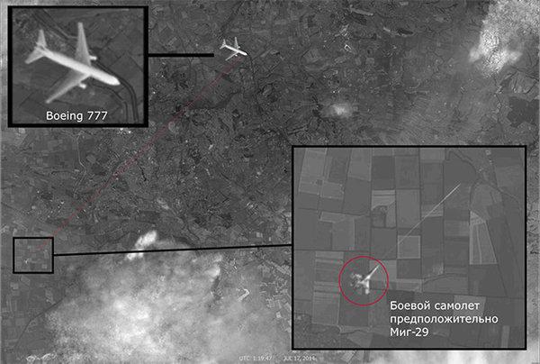 satellite image of mh-17 shooting