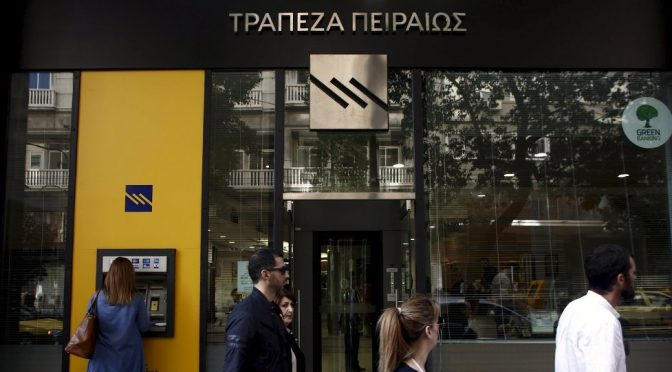 Greek Bank Wipes Out Poorest Customers' Debt