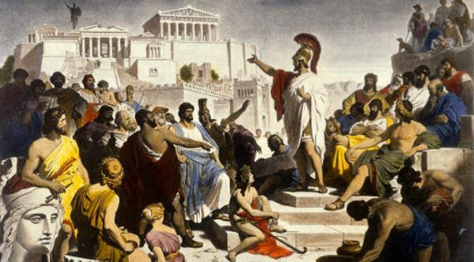 Athenian Democracy vs. Neoliberal Gods