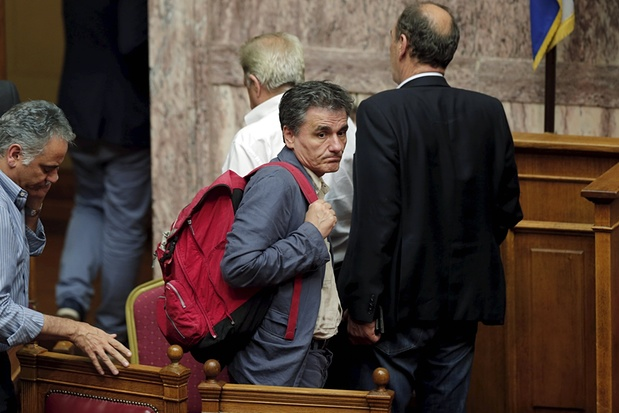 Here's the current finance minister, Euclid Tsakalotos Photograph: Alkis Konstantinidis/Reuters