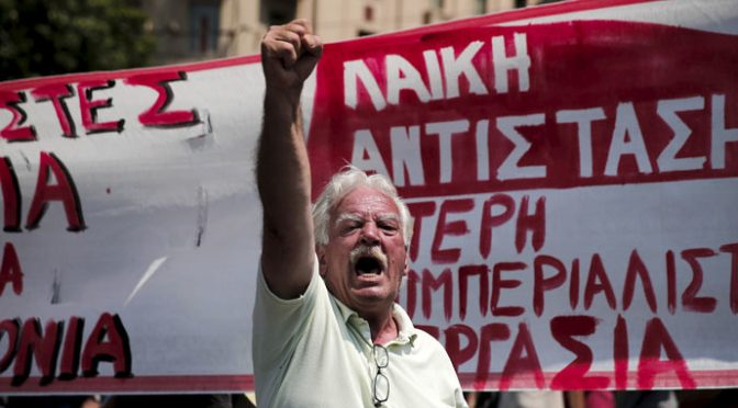 Cancel the Bailout! – Greeks Hit the Streets of Athens Again