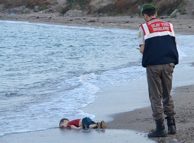 3-year old Syrian boy drowned in the Aegean Sea
