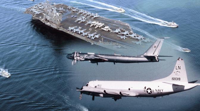 Russian TU-142 Long Range SpyCrafts Fly 1 Mile of USS Ronald Reagan