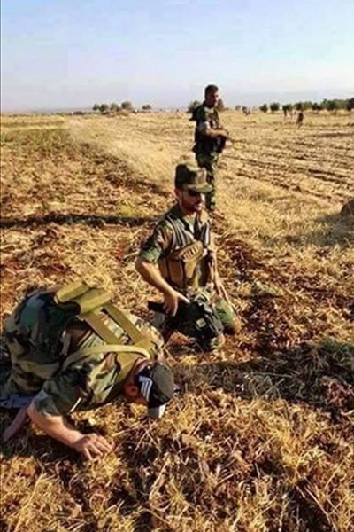 Syrian forces praising God after victory in Kuweires