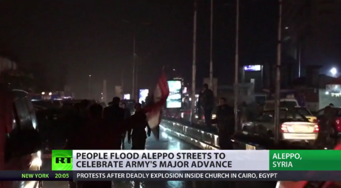 Aleppo Celebrates on Syrian Army's Full Recovery of the City