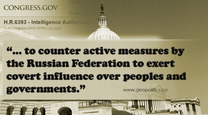 "US House Bill 6393 Passed to Counter Russian ""Fake News"" & its ""Repeaters"""
