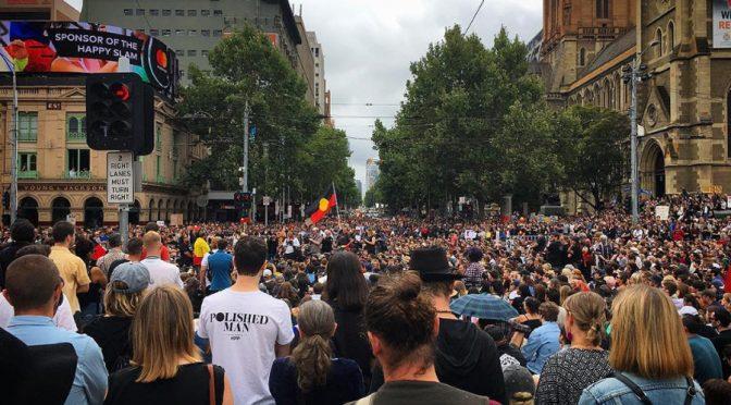 "Australians Burn the Empire's Flag to Condemn ""Invasion Day"""