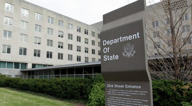 Fake News Media Protesting the Mass Removal of US State Dep't Diplomats & Senior Staff