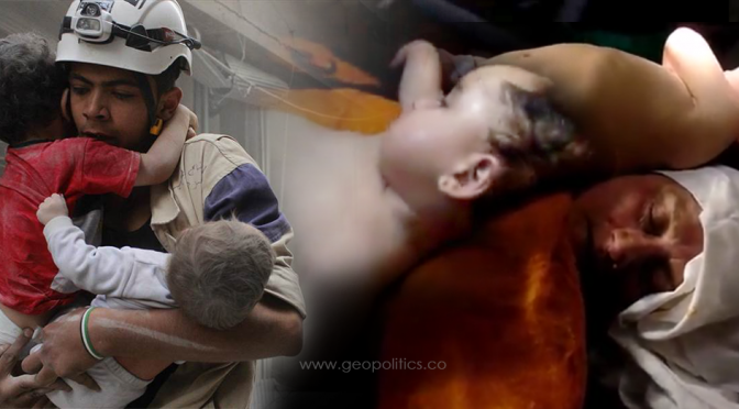 White Helmets' Macabre Manipulation of Dead Children, Staged Chemical Attack | SWEDHR