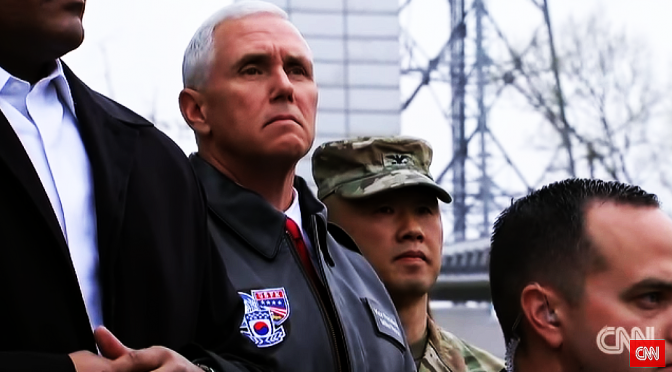 Trump is Coward Enough to Use VP Pence in Threatening Nokor with Nuke War