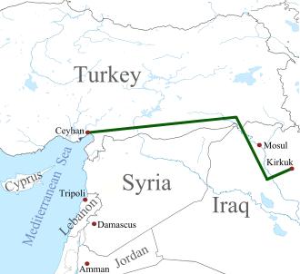 The Kirkuk-Ceyhan pipeline
