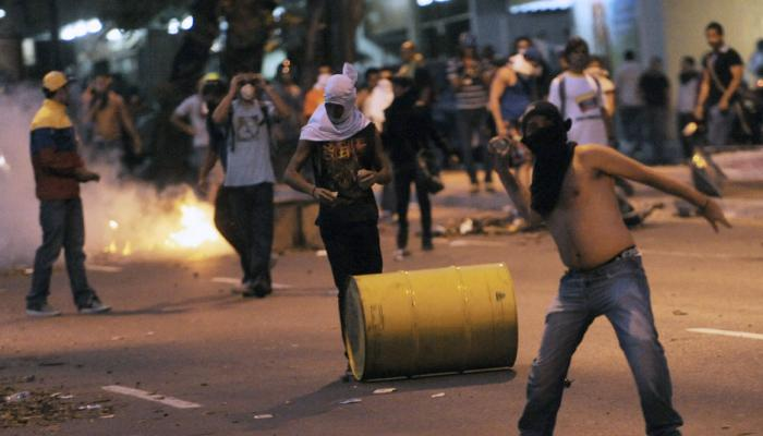 Protest against the Maduro government in Venezuela