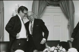 Then-Vice President George H.W. Bush (a former CIA director) with CIA Director William Casey at the White House on Feb. 11, 1981. (Photo credit: Reagan Library)