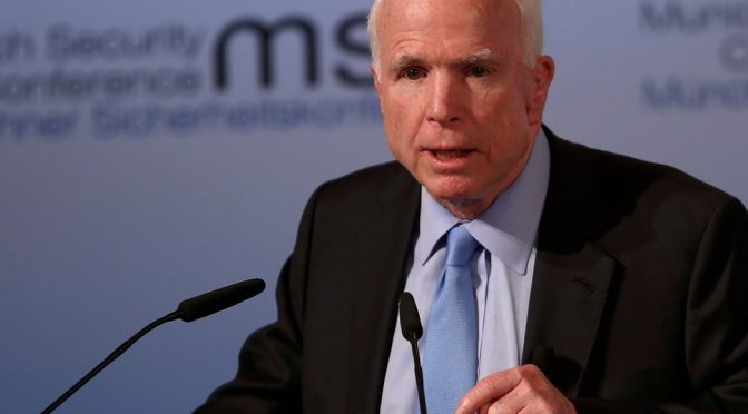 A Complete History of John McCain Calling for War Around the World