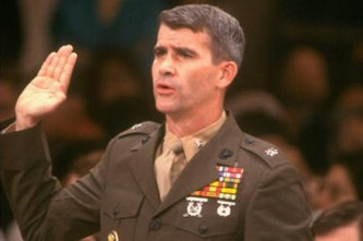 Col. Oliver North, a key figure in the Iran/Contra Affair during the Reagan and Bush years. (Source: Independence Day)