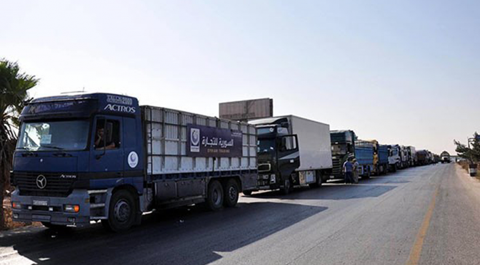 Aid Convoy of 40 Trucks Has Entered Deir Ezzor