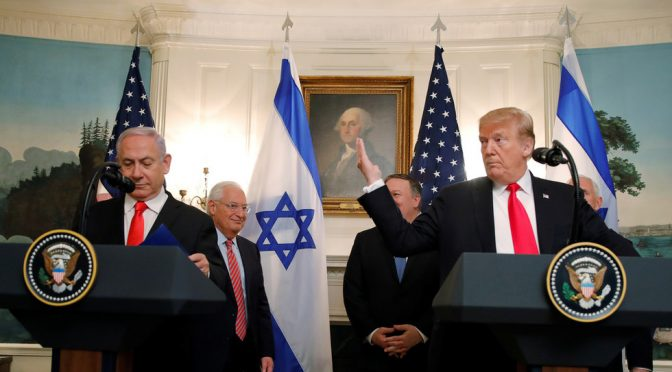 "Why Trump Defies the UN by Recognizing Israel's ""Sovereignty"" Over the Golan Heights?"