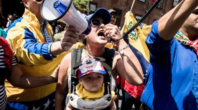 Who's Behind the Pro-Guaidó Crowd Besieging Venezuela's D.C. Embassy?