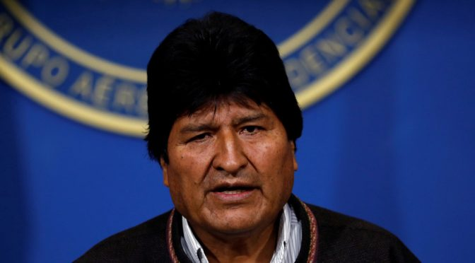 4th-termer Bolivian President Evo Morales Resigns Amidst Military Pressure